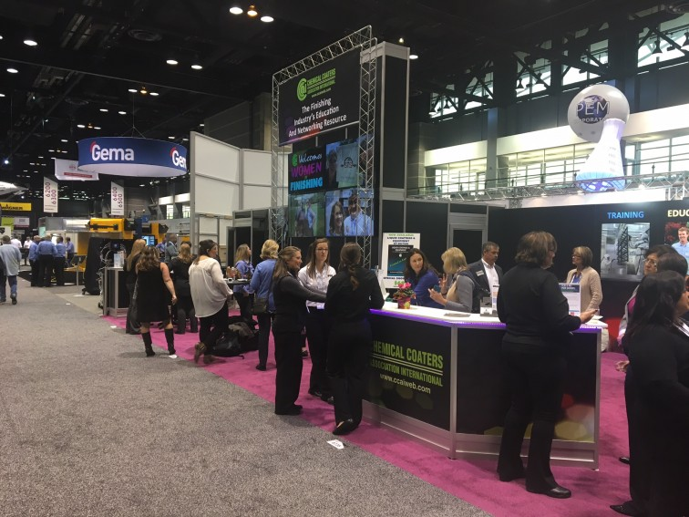 Blast Cleaning Technologies attends Women in Finishing Fabtech Reception