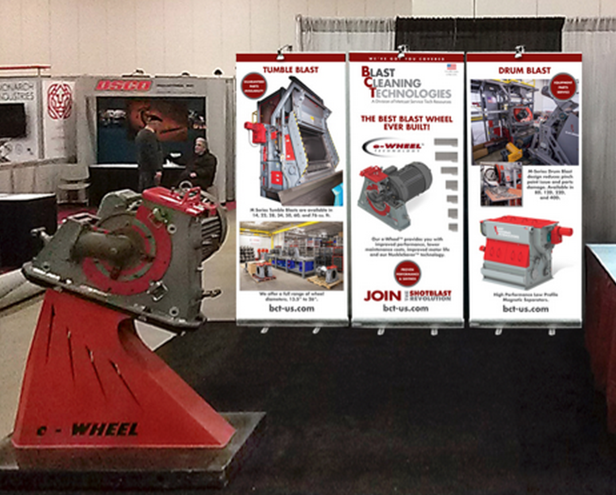 Blast Cleaning Technologies booth at MetalCasting Congress