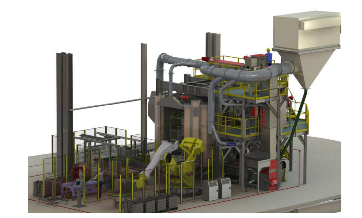 BCT Builds Two Station Carousel Spinner Machine for Caterpillar Inc