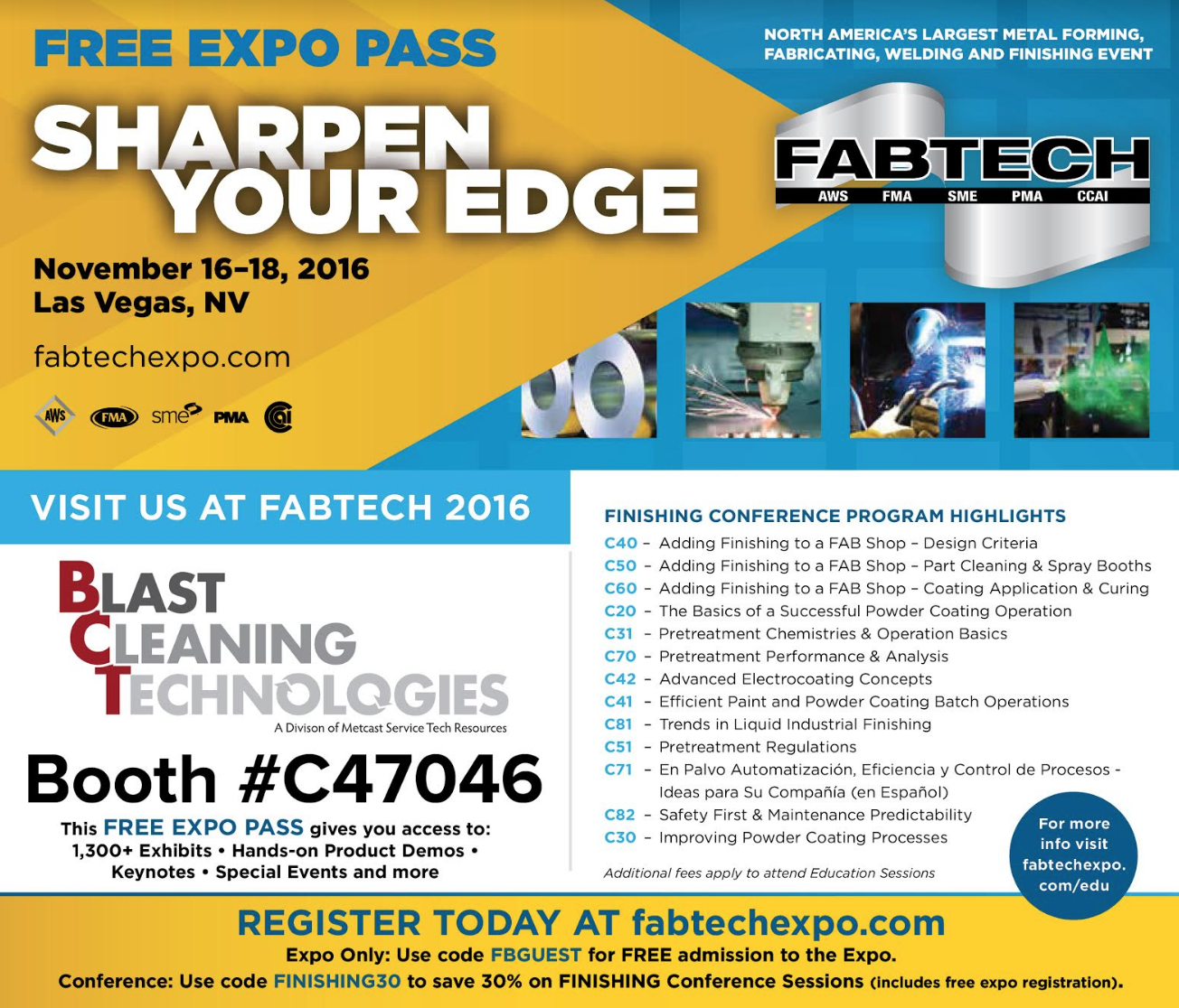 BCT Plans to Attend Fabtech 2016