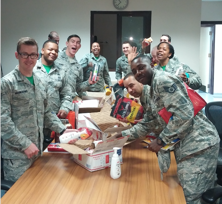 Gifts sent to active duty