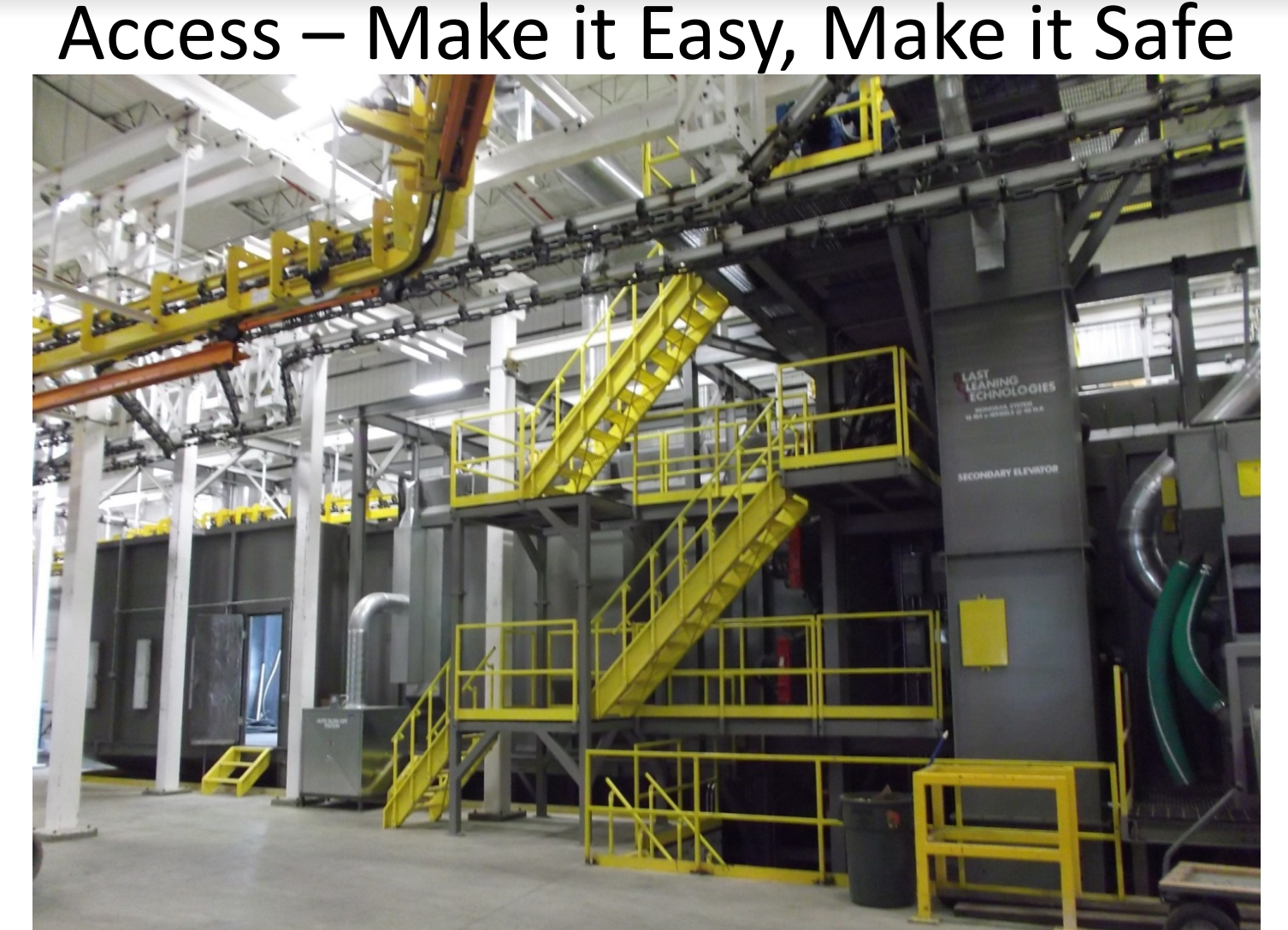 Blast Cleaning technologies shop floor security and accessibility